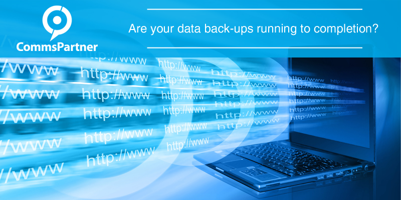 Are your data backups running to completion?