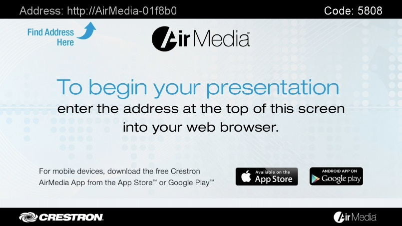 Crestron AirMedia Presentation System 200