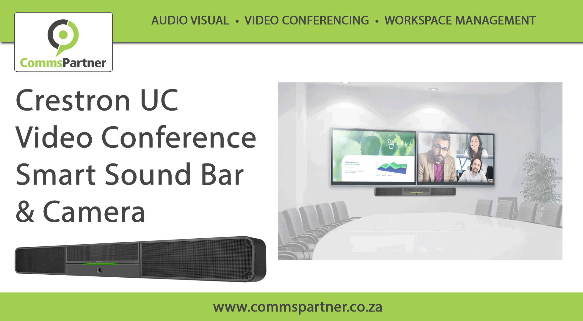 Crestron UC Video Conference Smart Sound Bar & Camera