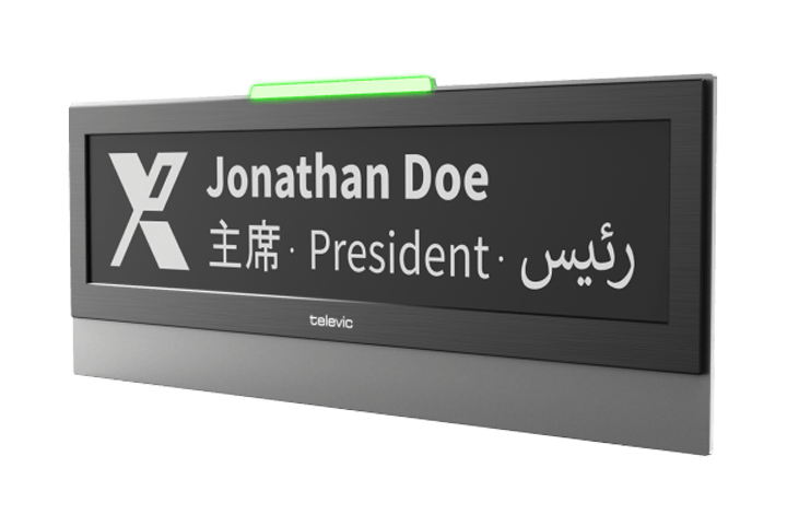 Televic Conference Electronic Nameplate